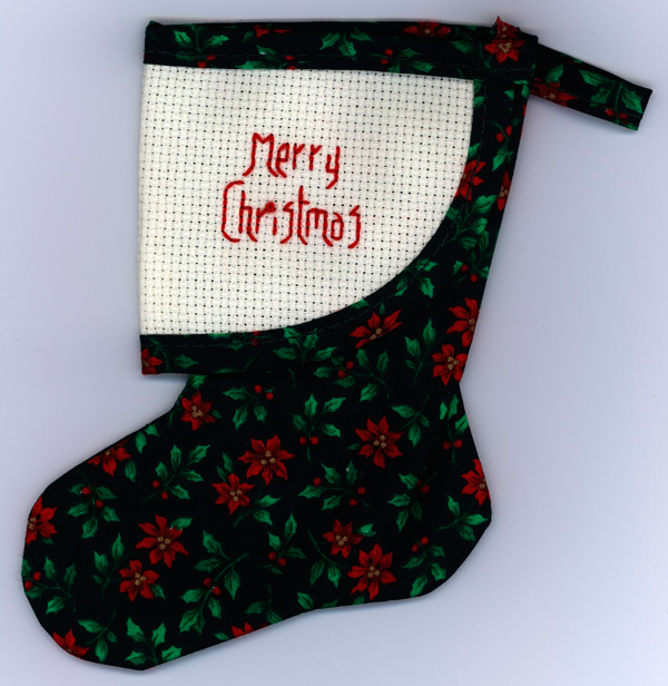 child's christmas stocking counted cross stitch